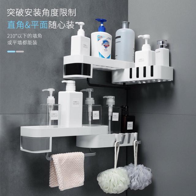 浴室無痕旋轉置物架