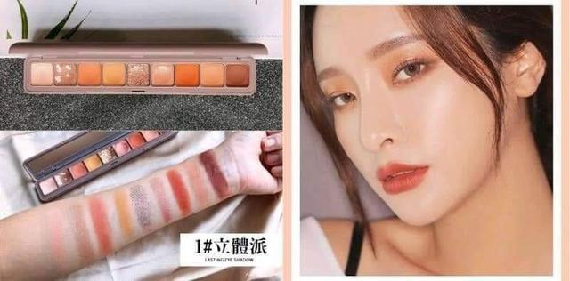 預購商品11/25結單  韓國防水珠光亮片九色眼影盤