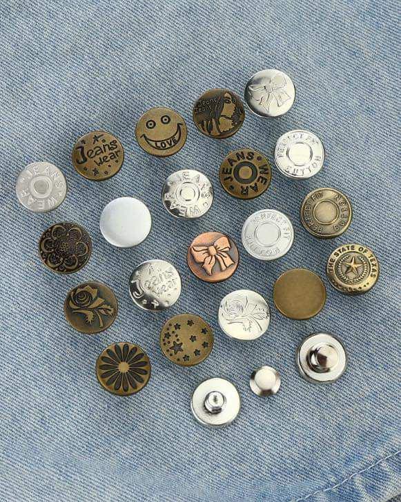 現貨2(預購S)免針線可拆卸隨插即用鈕扣(一組10入)