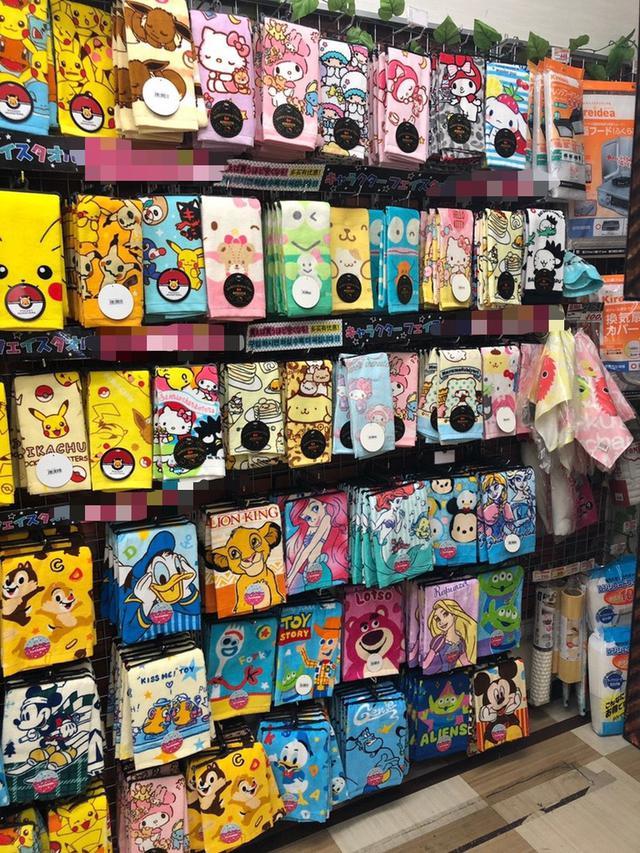 日本🇯🇵迪士尼三麗鷗各款卡通毛巾