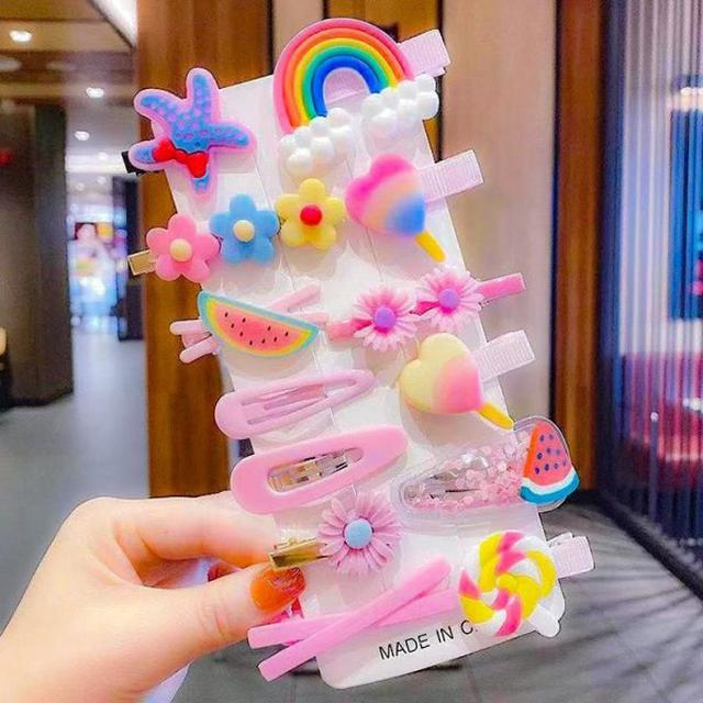 糖果色公主14件套可愛髮夾  #tsp預購  批價:39