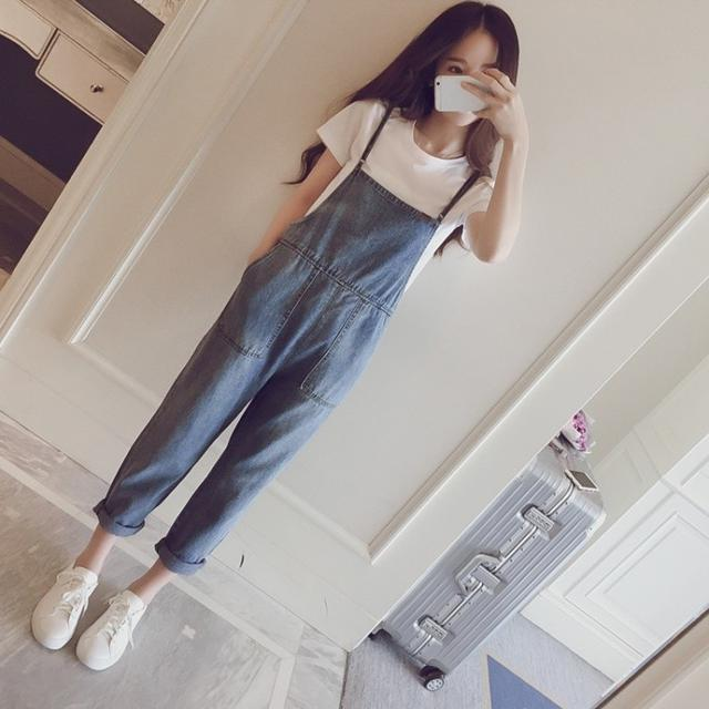 【預購】夏季薄款  韓版網紅可愛牛仔吊帶