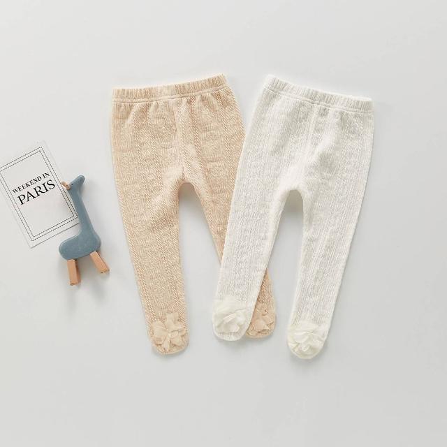 『秋冬-預購』純色坑條寶寶褲襪