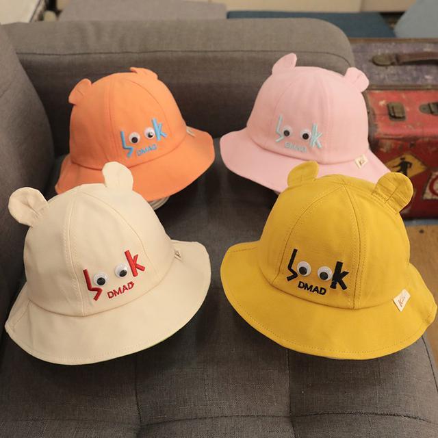(預購)男寶寶帽子嬰兒遮陽夏季幼兒童防曬渔夫帽