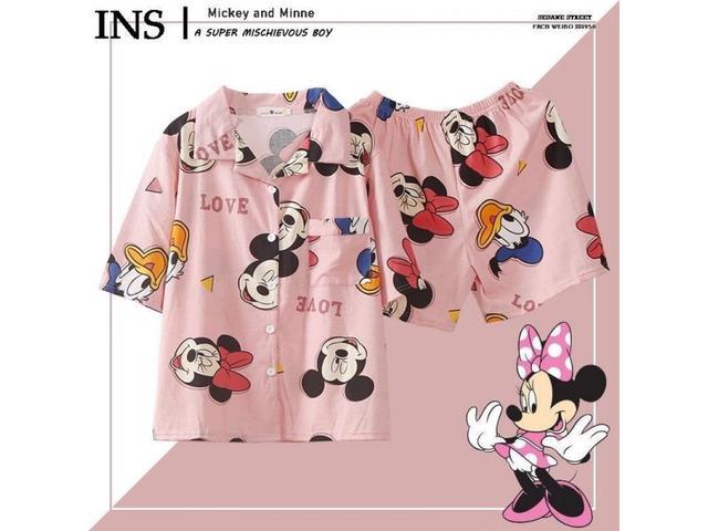 預購-韓國拿貨 中國製 米奇米妮造型可愛睡衣