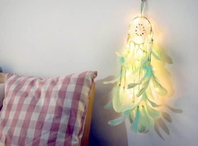 捕夢網燈串超夢幻少女房間浪漫裝飾燈