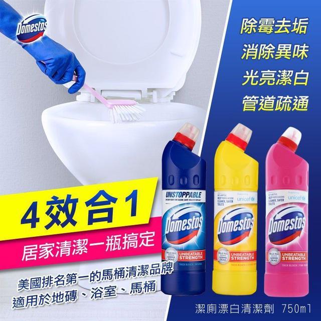 美國 Domestos 潔廁漂白清潔劑 750ml
