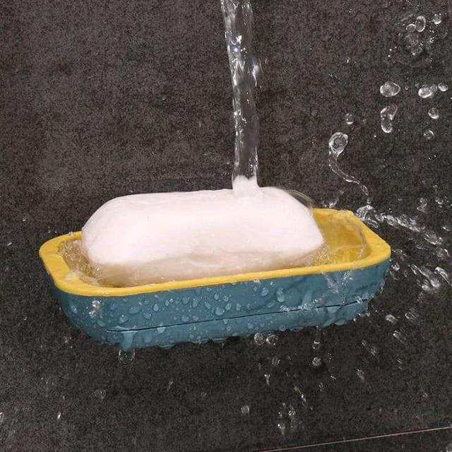 (預購S)無痕免釘子雙層抽屜式肥皂瀝水盒
