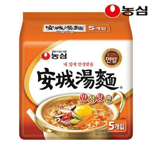 韓國 農心 安城湯麵 境內版 泡麵 (五包入)