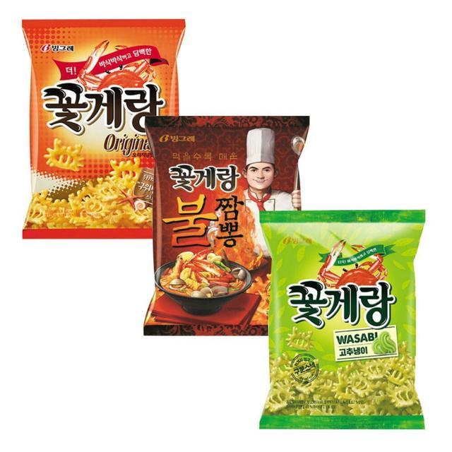 韓國 Binggrae賓格利 螃蟹餅乾 全系列