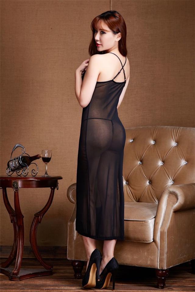 情趣內衣睡衣長裙透明款吊帶網紗裝連體性感睡裙