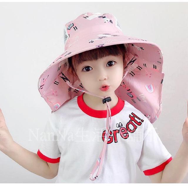 💖預購💖可愛兒童戶外披肩遮陽帽