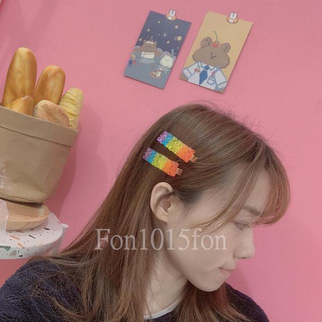 《彩色小熊軟糖造型髮夾、瀏海夾、少女髮夾》