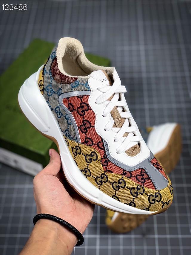 古馳老爹3D皮革角狀復古慢跑鞋 消退的巴黎世家姥爺潮