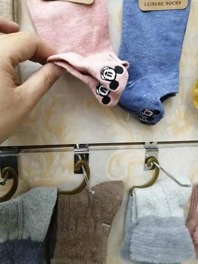 刺繡米老鼠短襪5雙1組