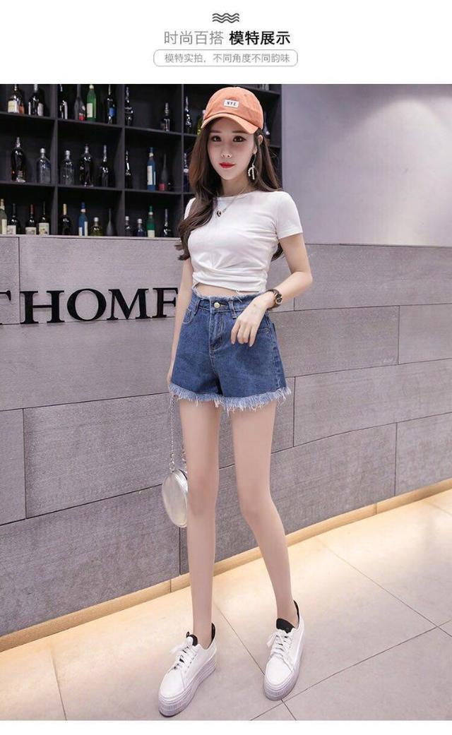 【預購】韓版牛仔寬鬆顯瘦短褲