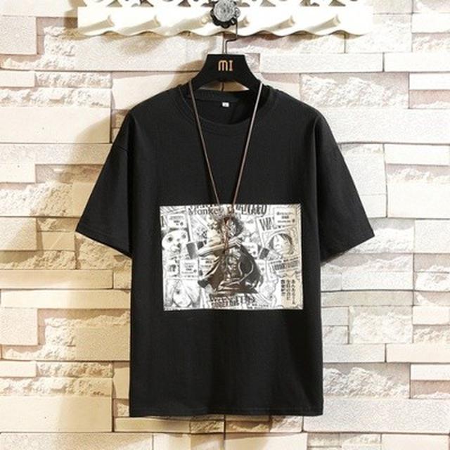 06 S-3XL 優質純棉寬鬆休閒動漫短袖T恤(4色)