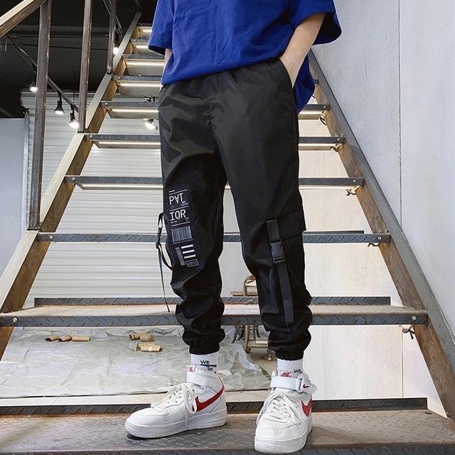 褲子男寬松學生韓版ins工裝褲男潮牌束腳潮流嘻哈運動男士休閒褲