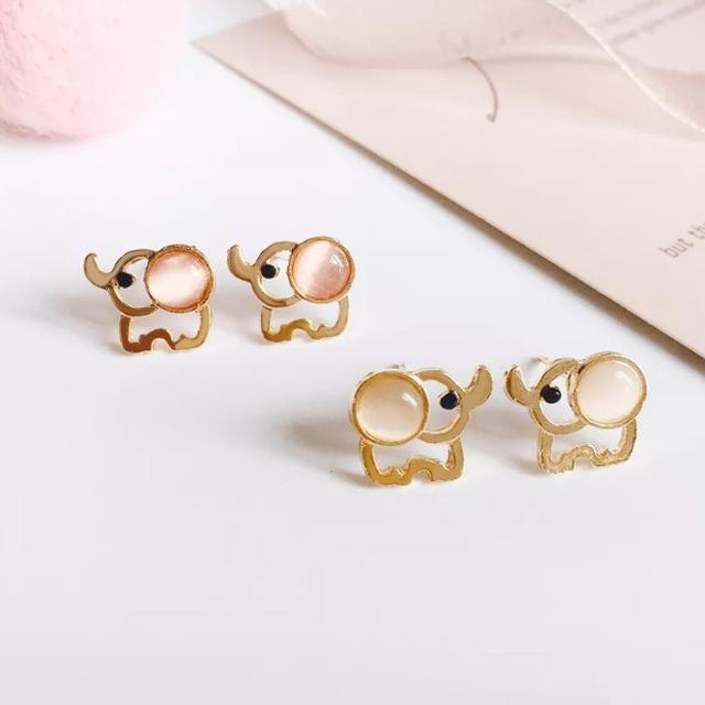 【預購】韓國可愛大象OL百搭耳環