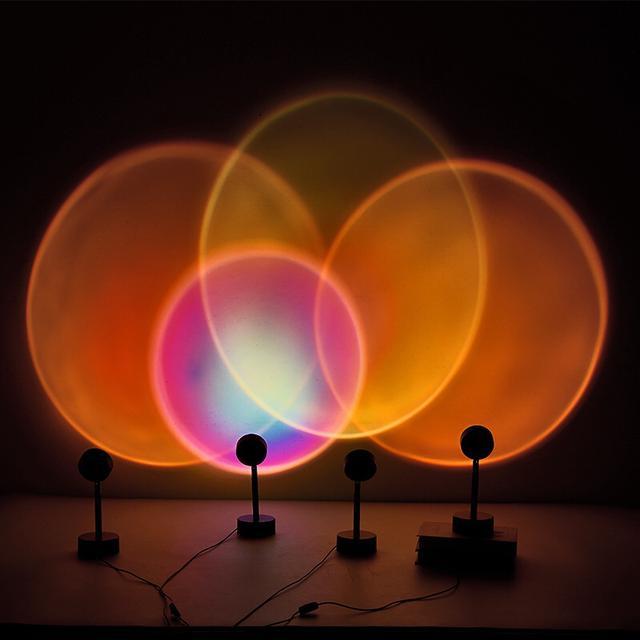 網紅日落投影燈