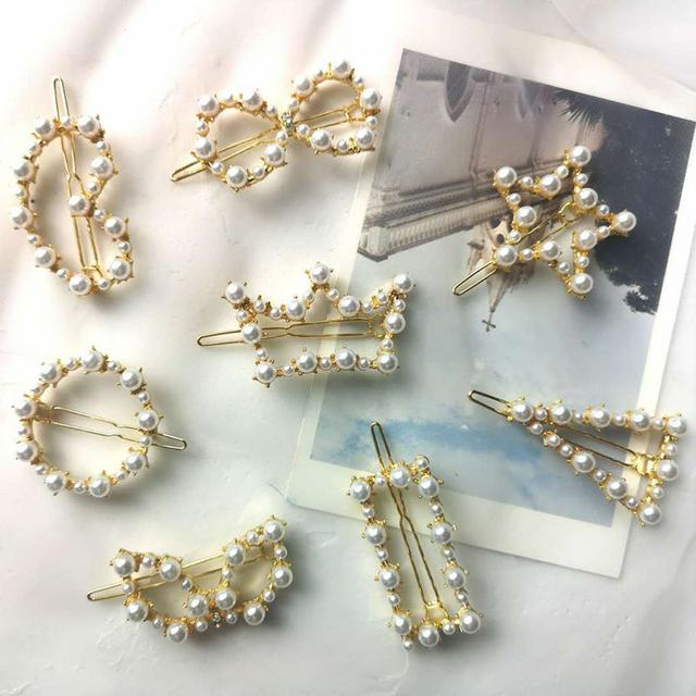 ins韓版珍珠髮夾(8入)