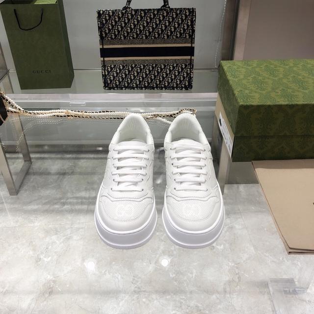 GG情侶款小白鞋