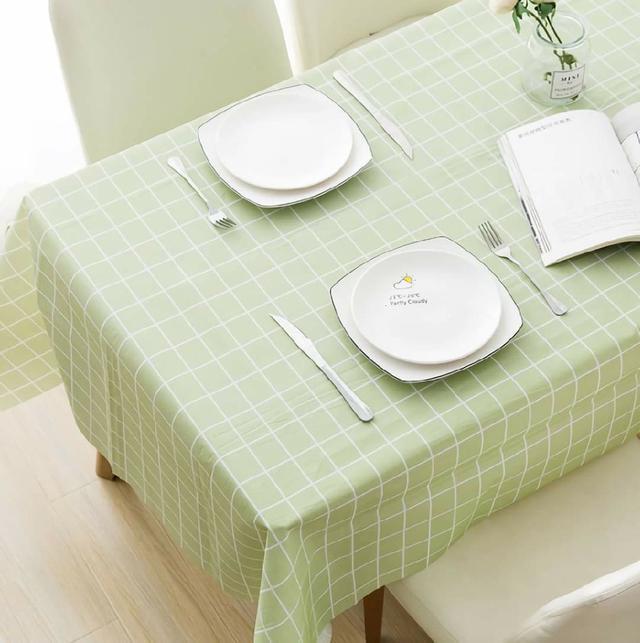 (預購s+) A087-清新格子防水防油桌布