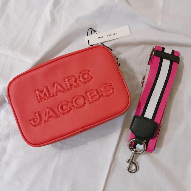 [現貨]Marc jacobs 寬背帶 橘紅色 相機包