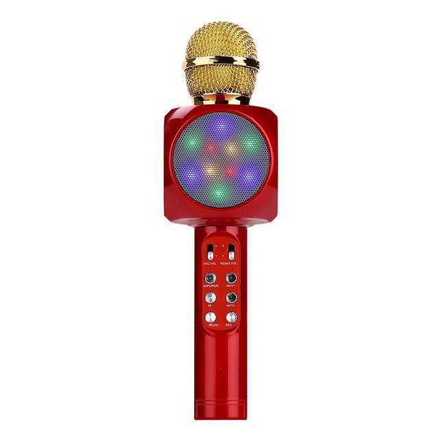批發無線麥克風 炫麗彩燈唱吧全民K歌寶話筒 手機k歌電容麥克風