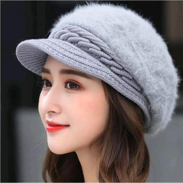 (預購S) 仿兔毛雙層保暖護耳帽