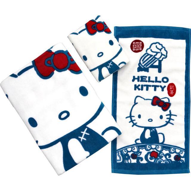 正版三麗鷗凱蒂貓100%純棉大浴巾