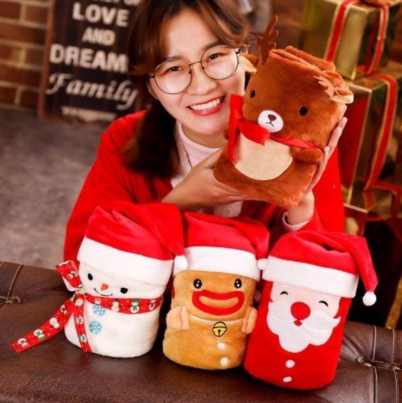 預購商品 11/21 結單  聖誕節交換送禮首選 法蘭絨空調毯