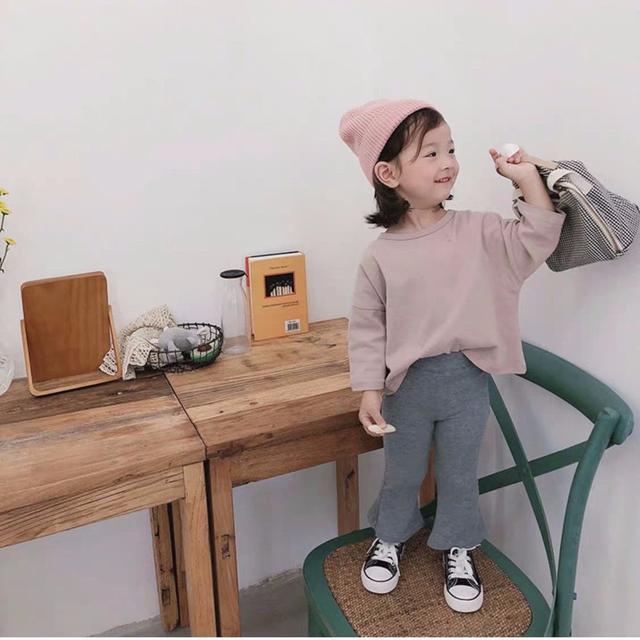 預購-韓版彈力喇叭褲
