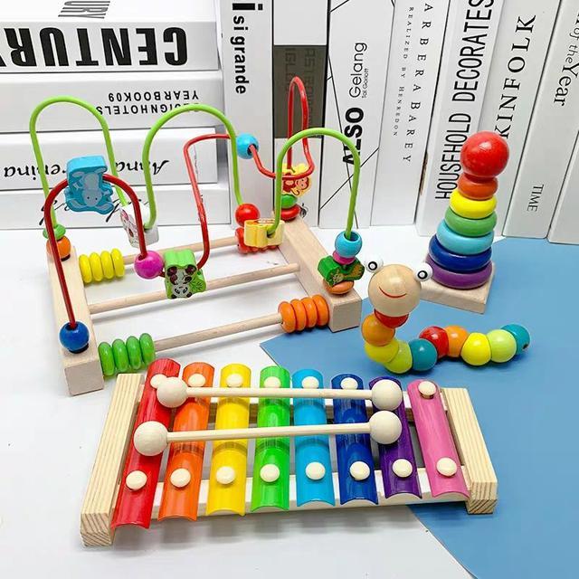木質兒童1-5歲八音小木琴音樂儿歌LSJ19072311