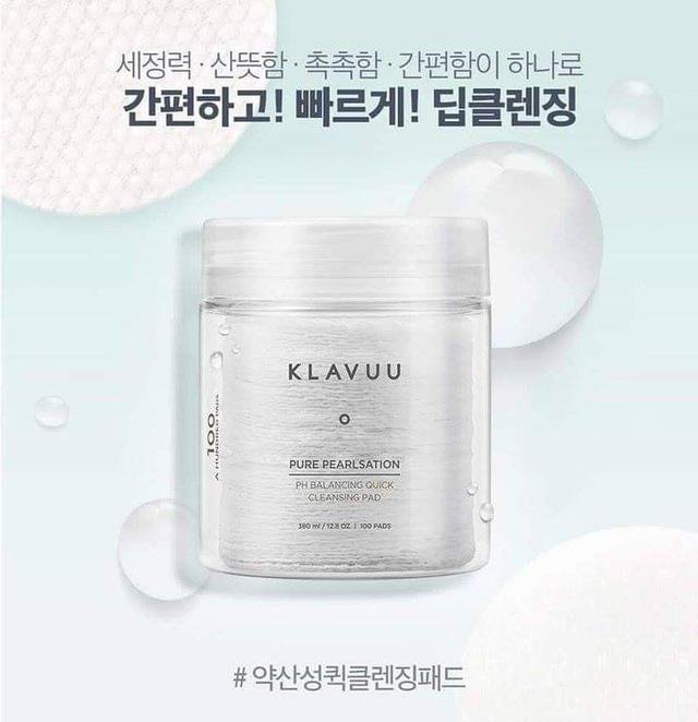 預購  韓國KLAVUU 平衡潔面卸妝棉 100片
