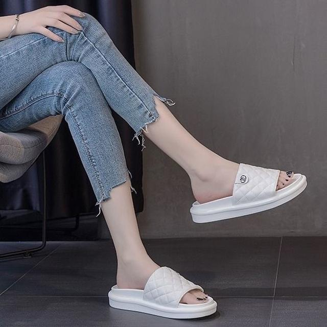 女鞋2020夏季小香涼鞋女厚底休閒拖鞋增高超火百搭網紅涼鞋