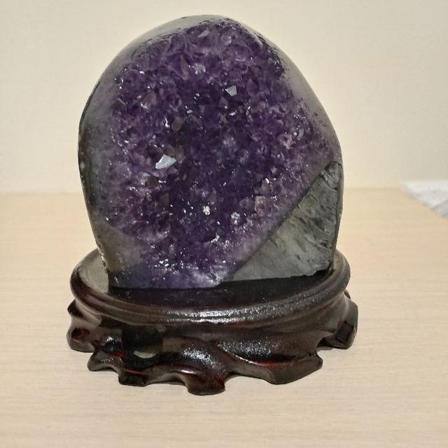 紫晶鎮 564g 天然水晶 紫水晶 招財 風水 擺飾 晶簇 晶鎮 #B