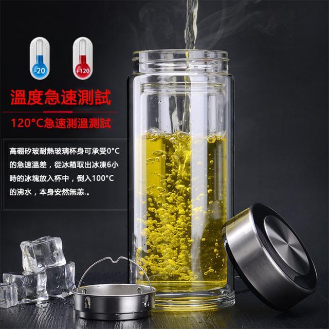 大容量雙層玻璃杯