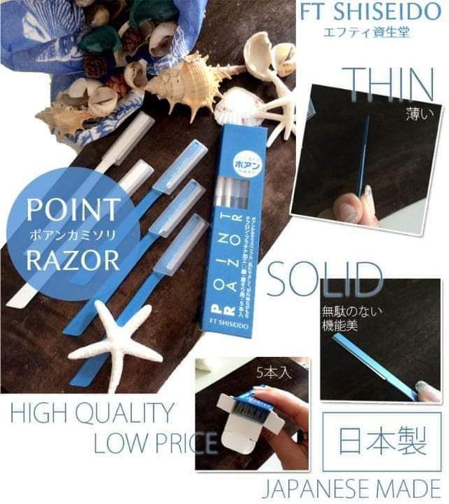 日本 SHISEIDO 資生堂 POINT RAZOR 顏眉兩用修飾刀