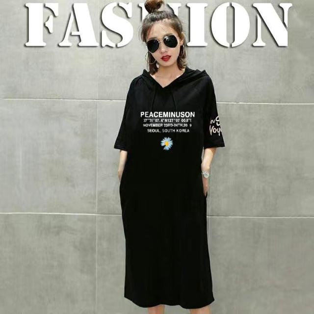 短袖T桖女時尚寬松顯瘦大衫休閒連衣裙