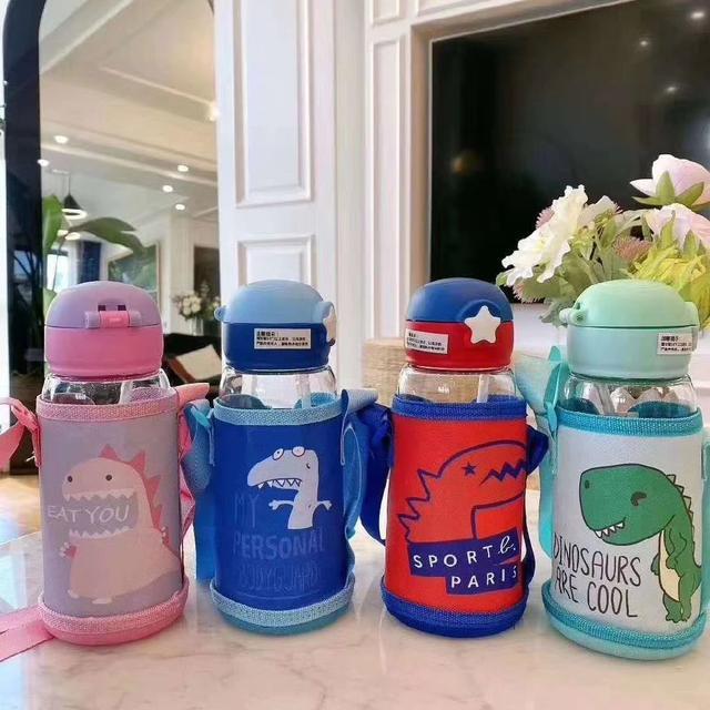預購#可愛恐龍兒童吸管大容量塑料杯