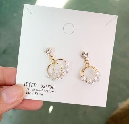 韓款精緻多樣式珍珠鋯石耳環