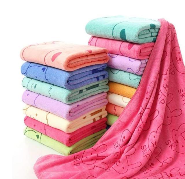 【現貨】可愛印花吸水浴巾