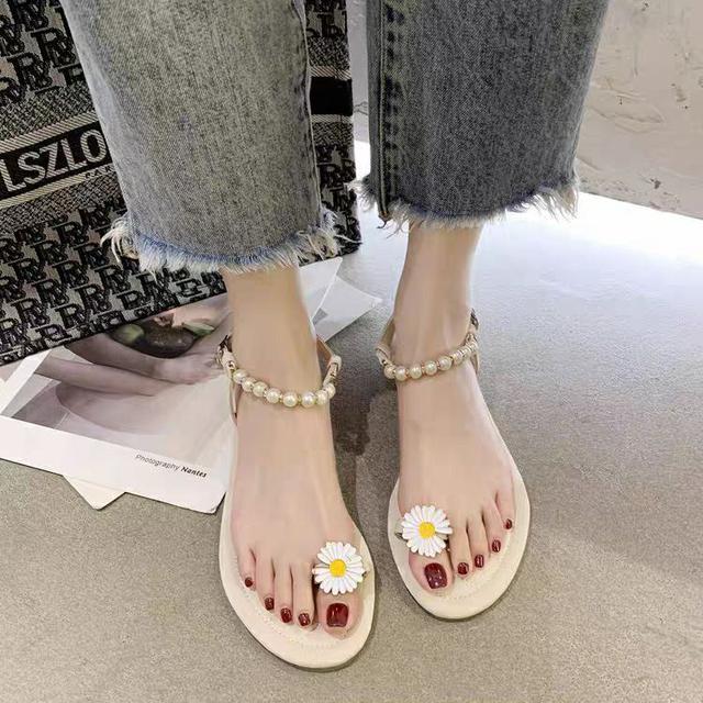 小雛菊一字帶羅馬鞋