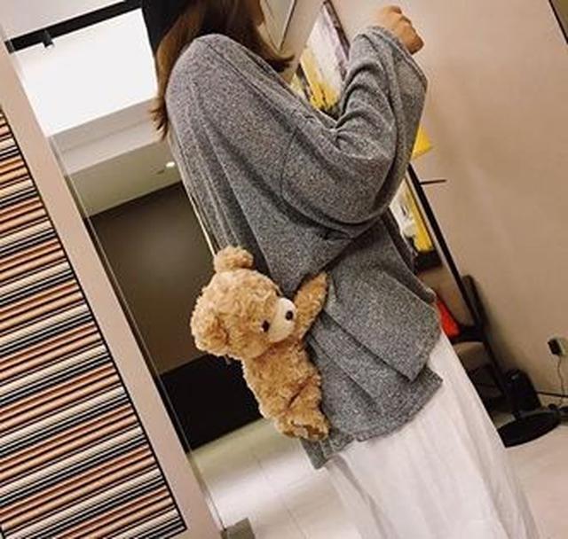 小熊手機包化妝包(肩帶可調整)