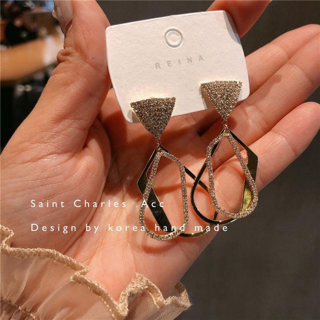🇰🇷不規則設計款微鑲工耳環