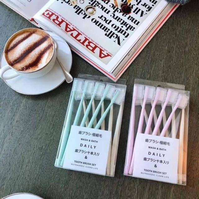 馬卡龍日系牙刷10隻裝
