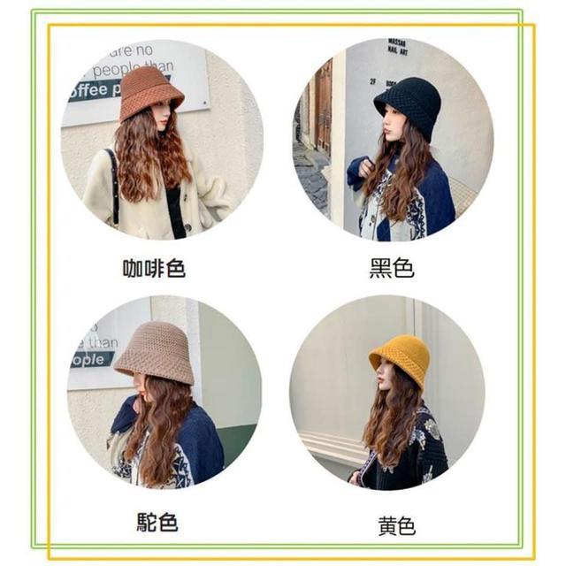 秋冬時尚針織漁夫帽