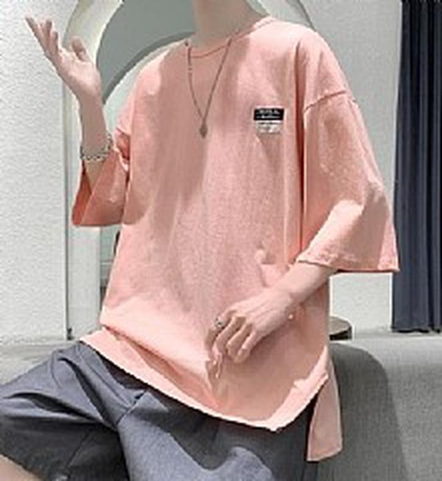 預購MS7188潮流男裝 純棉薄款潮牌流行半袖T恤(3色)