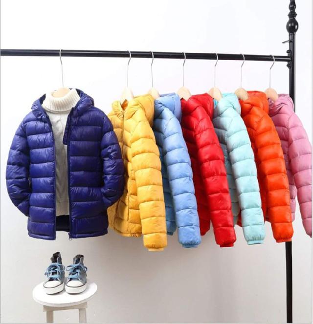 秋冬兒童羽絨棉連帽外套